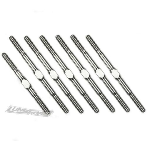 LNS2154 Lunsford 3mm PUNISHER Titanium Turnbuckles for LC Racing LC10 B5