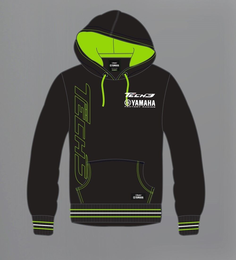 New Official 2015 Tech 3 Yamaha Pull Over Team Hoodie