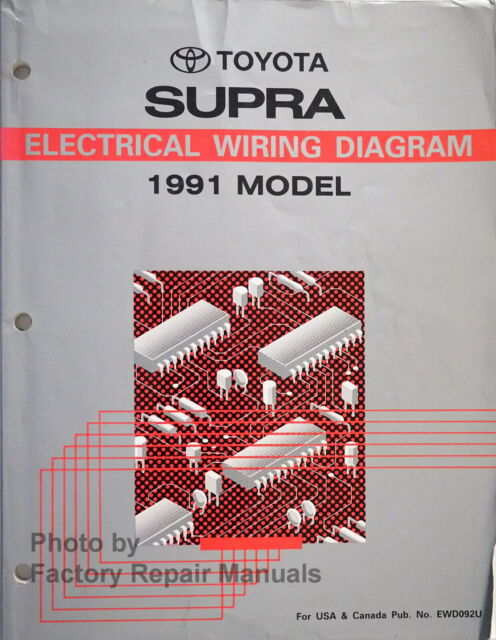 1991 Toyota Supra Electrical Wiring Diagrams Manual
