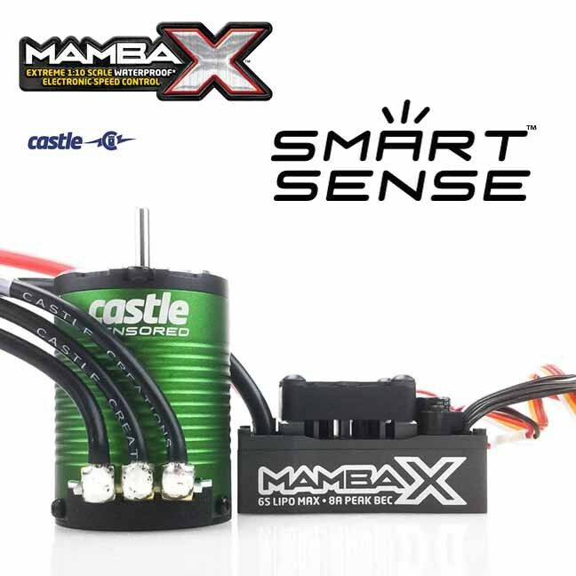 Castle Mamba SCT PRO 1 1 1 10 Sensored 25.2V Waterproof ESC & 1410 3800KV 3.17mm 919515