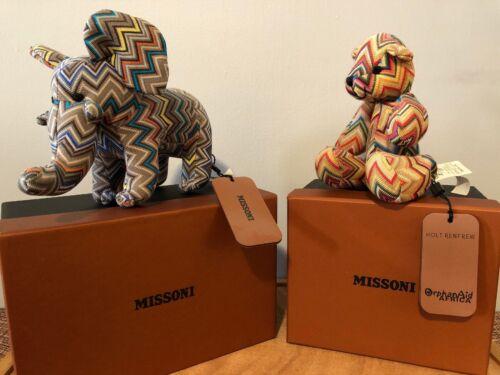 Missoni for Holt Renfrew Bear et peluche éléphant Neuf avec étiquettes et boîtes
