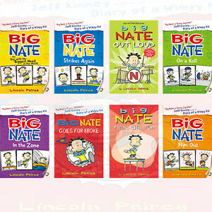 Big Nate Series Collection 8 Books Set Big Nate Strikes