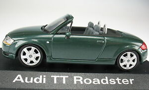 Minichamps-Audi-TT-Roadster-steppengras-verde-oscuro-en-OVP-1-43-maqueta-de-coche