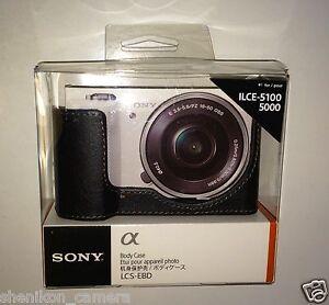 100% Neuf Inutilisé Sony Lcs-ebd Noir Appareil Photo Case Nex Objectif Interchangeable Caméra Avec E-mount - 5100 5000-afficher Le Titre D'origine