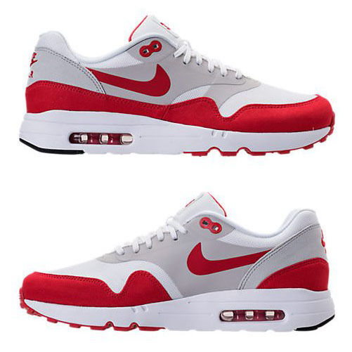 NIKE AIR MAX 1 ULTRA 2.0 LE MEN's CASUAL WHITE - U RED - NEUTRAL - BLACK US SIZE