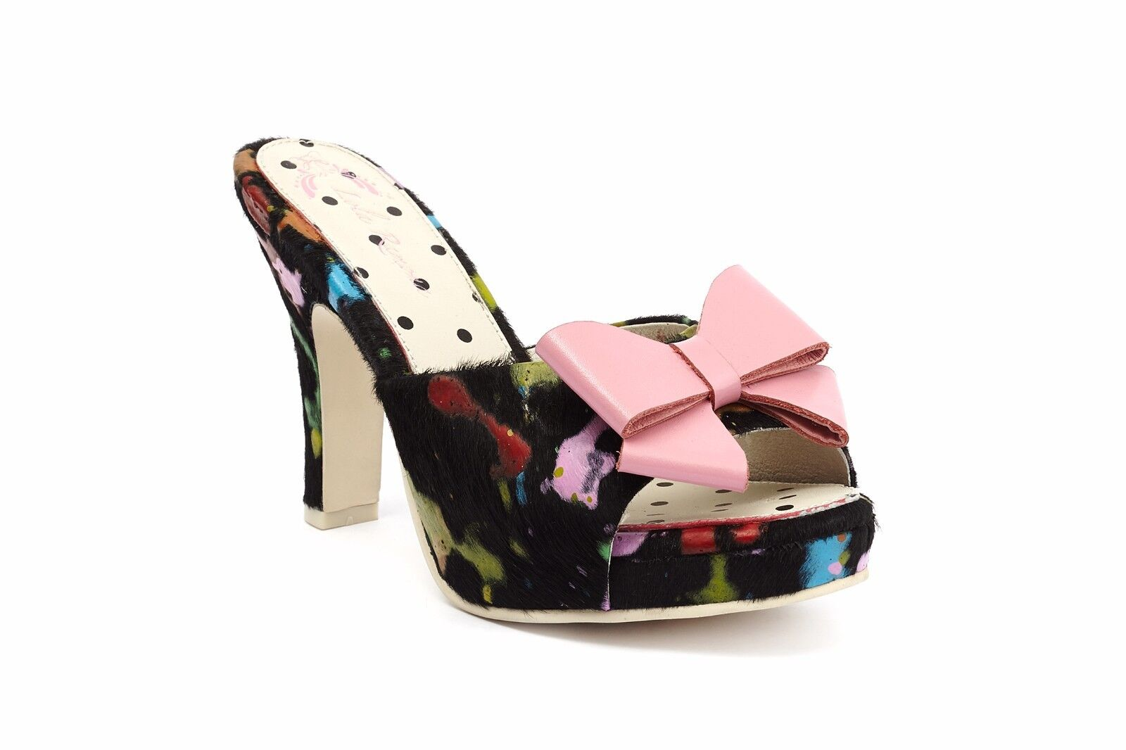 Lola Ramona Multi Colourot Colourot Colourot Angie Platform Slider with Rosa Bow EU 38  UK 5  | Förderung