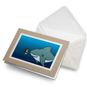 Greetings-Card-Biege-Scuba-Diving-Hedgehog-Shark-15624