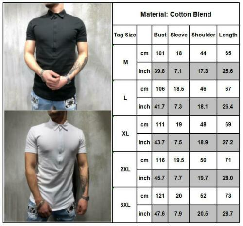 Men Casual Polo Shirt Summer Short Sleeve Linen Slim Fit Solid Tee Tops Blouse