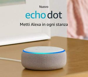 Amazon Echo Dot ( 3a generazione) Altoparlante intelligente - Grigio chiaro