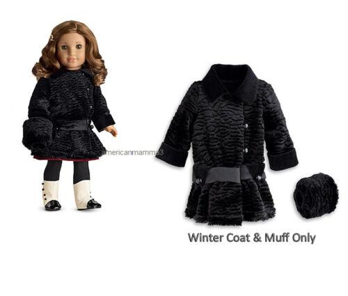 American Girl REBECCA WINTER COAT for 18 Dolls Historical Jacket Black NEW