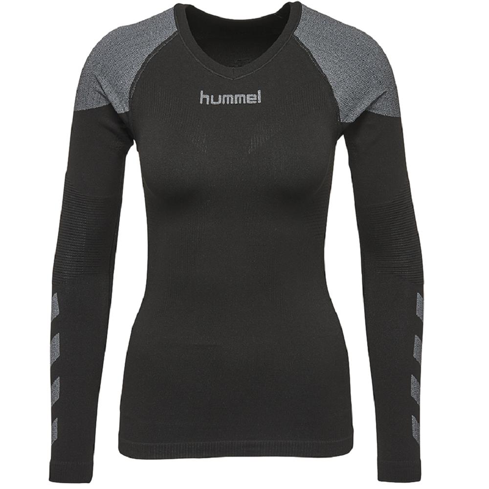 Hummel First Comfort Lonngsleeve Jersey Funktionsshirt Fitnessshirt schwarz WOW