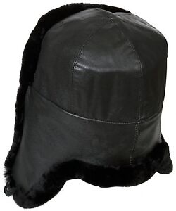 73fbc27bd Details about Naval officer mouton sheepskin Russian winter hat ushanka,  Genuine Lamb Leather.