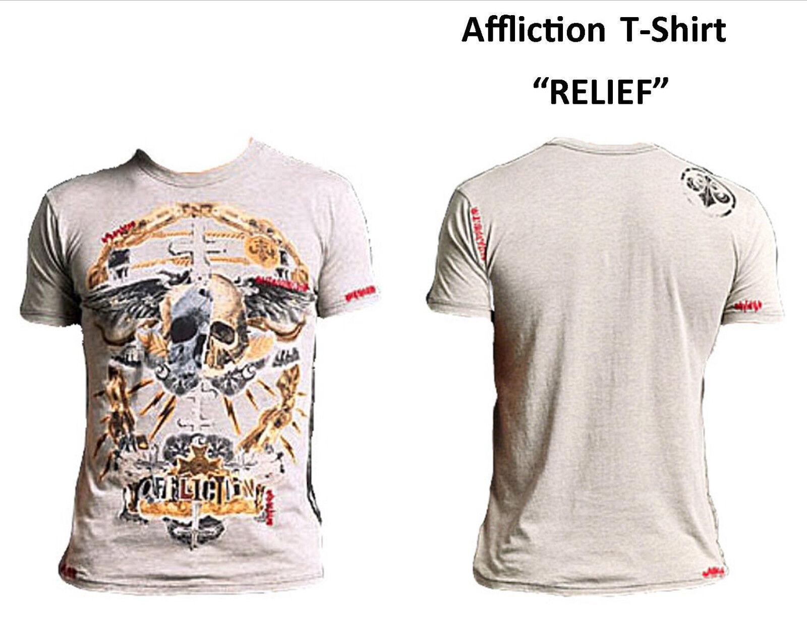 Affliction T-Shirt Short Sleeve  RELIEF  Sand M