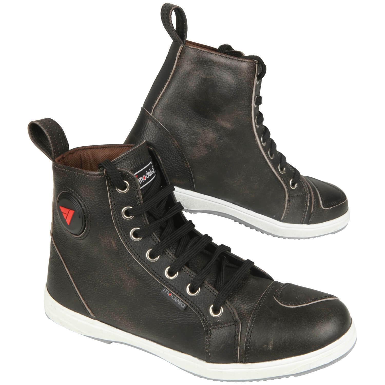 Modeka Lane Men's Motorcycle Boots Sneaker Leather - Black