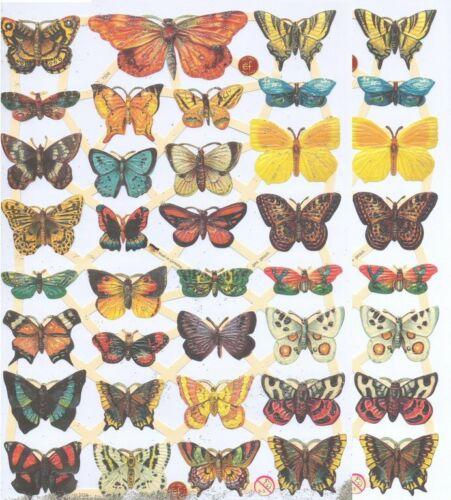 Chromo EF Découpis Papillon 7336 Decoupage Collage Carterie