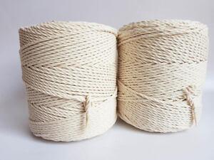 Macrame Cord Macrame Rope 3mm Macrame Cord 400 Meters Natural Cotton Cord