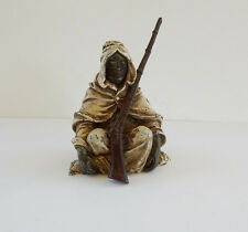 Vienna Cold Painted Bronze in Shape of Thinking Boy Signed Bergman