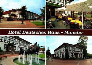 Munster / Lüneburger Heide , Deutsches Haus , Ansichtskarte, 2000 gelaufen - Rostock, Deutschland - Munster / Lüneburger Heide , Deutsches Haus , Ansichtskarte, 2000 gelaufen - Rostock, Deutschland