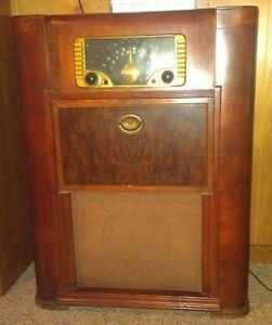 Image Is Loading Vintage Zenith Long Distance Radio With Record Player