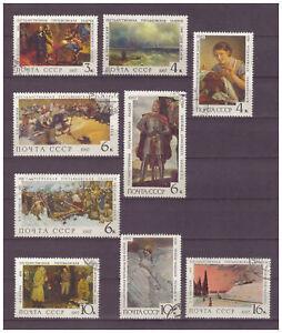 Sowjetunion-Tretjakow-Galerie-MiNr-3445-3453-1967-used
