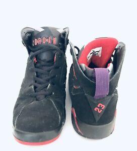 super popular c3171 ede23 Image is loading Nike-Air-Jordan-VII-7-Retro-Black-Charcoal-