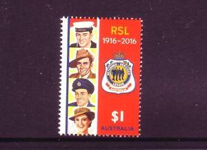 AUSTRALIA-2016-Centenary-of-RSL-in-Australia-1-Single-MNH