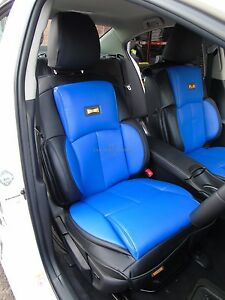to fit a ford focus car ys02 blue black recaro sports 2 seat covers ebay. Black Bedroom Furniture Sets. Home Design Ideas