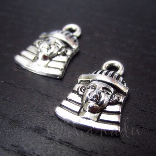 20 Or 50PCs Egyptian Pharaoh 16mm Antiqued Silver Plated Charms C0941-10
