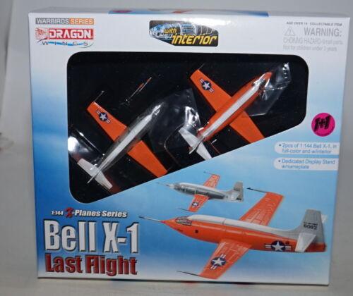 Dragon 51025 Bell X-1 último vuelo 2 aviones modelo Set con Soporte 1:144th Escala