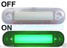 12V/24V SURFACE/BAR MOUNT GREEN LED MARKER LAMP / LIGHT TRUCK VAN CAR KELSA BAR