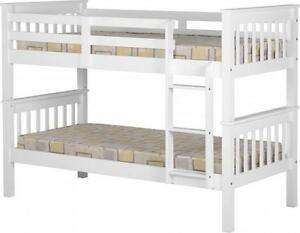 Image Is Loading NEPTUNE PINE WHITE BUNK BED BEDROOM FURNITURE FREE