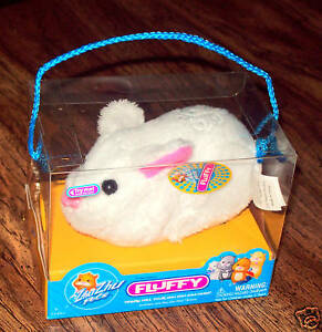 Zhu-Zhu-Pets-Hamster-BUNNY-FLUFFY-Hallmark-LE-Exclusive-WHITE-Easter-RABBIT-NEW