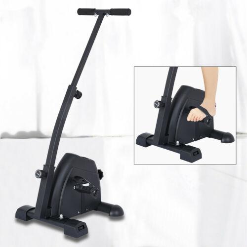 Folding Exercise Bike Portable Leg Resistance Cycle Pedal Exerciser with Handbar