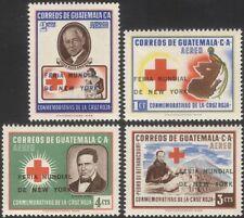 Guatemala 1964 Red Cross/Medical/Birds/World Fair optd surcharge 4v set (n28154)