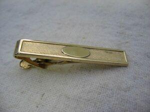 Vintage Gold Filled Rhinestone Tie Bar Tie Clip Foster