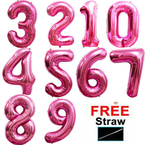"""40/"""" Giant Foil Number Balloons Helium//Air Birthday Age Party Wedding 0-9 baloons"""