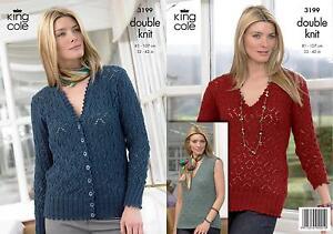 5b41fd438 King Cole 3199 Knitting Pattern Sweater