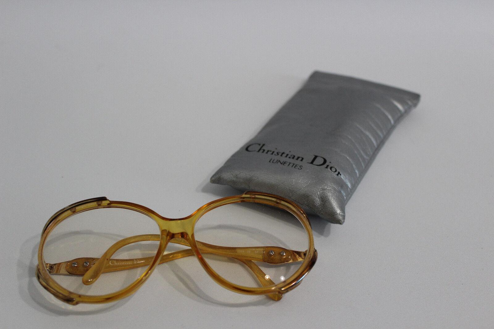 60er 70er years Glasses Christian Dior Vintage Frame Plus Pouch Ethnic Boho-show original title