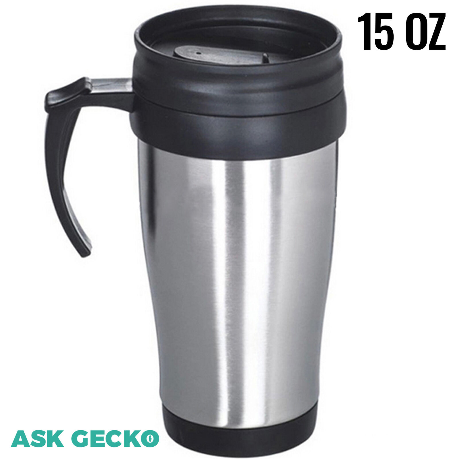 480 ml//16 oz Ion8 Caf/éStor Leak Proof Insulated Steel Reusable Coffee Cup Flask