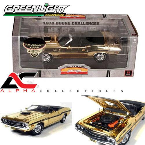 Grünlight 50817 24k Gold 1,18 426 hemi cabrio - druckguss 1970 herausforderer