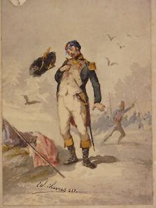 Edouard-Chevret-1835-1874-Kostuem-Militaer-Husaren-1863-Wappen-Marseille