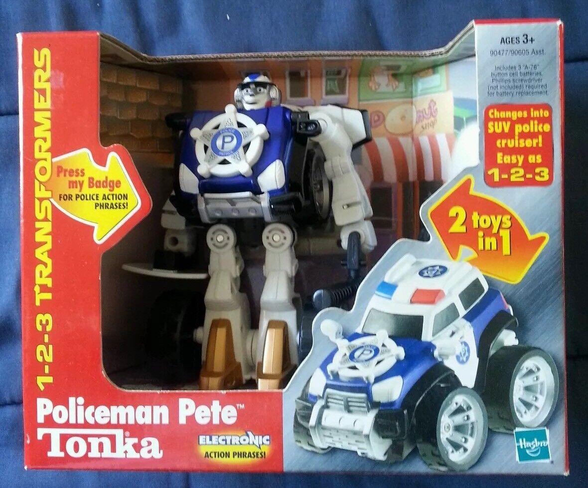 Transformers 1-2-3 TONKA GOBOTS POLICEMAN PETE MIB 2007 RARE