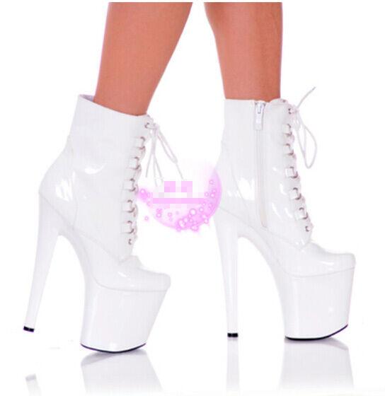 Moda para mujer Super Plataforma De Tacón Alto Alto Alto Zapatos De Arranque Corto Baile Discoteca Polo 963525