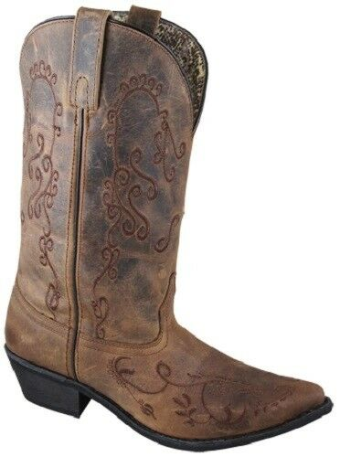 NEW  Smoky Mountain Boots LADIES Western Cowboy - 11  Leather  Brown Snip Toe