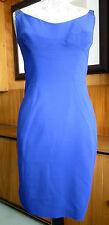 Kaufmanfranco Blue Dress with Leather Shoulder Straps size US6 UK10