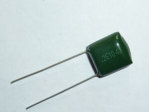 Capacitor 100nf 100000pf - 0,1µf 250v-polypropylene-lot of 20 pieces