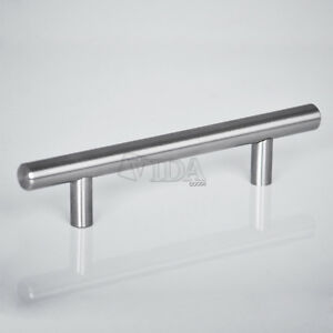 "2"" - 36"" Modern Stainless Steel Kitchen Cabinet T Pulls Handles knobs Hardware"