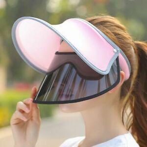 Women-Summer-Ice-Silk-Open-Top-Double-Visor-Sun-Hat-Clip-On-Adjustable-Outdoor
