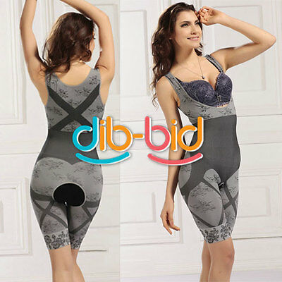 Hot Women Top grade Slimming Bamboo Charcoal Tummy Body Shaper Fiber Jumpsuit