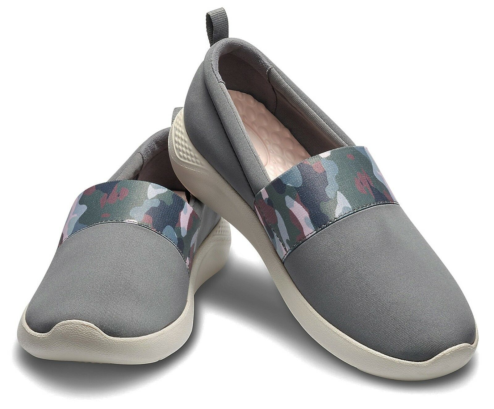 Crocs NEW grey Literide Graphic slip on grey NEW camo comfort shoes trainers UK size 3-9 7fb1fc